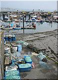 SW4628 : Tidy fishing gear, Newlyn harbour by Pauline E