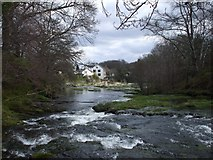 NX9479 : Cluden Water with East Cluden Mill by John Lord