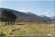 NH2575 : View towards the Fannichs from near Loch Droma by Nigel Brown