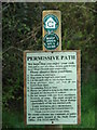 TG0733 : Permissive path - sign by Evelyn Simak