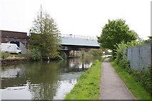 TQ1883 : Piccadilly Line railway bridge over Paddington Arm by Dr Neil Clifton