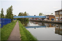 TQ1983 : Footbridge to Northfield Industrial Estate, Paddington Arm, Grand Union Canal by Dr Neil Clifton