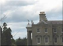 SH4555 : Dancing on the portico roof of Plas Glynllifon by Eric Jones