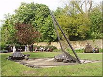 TQ2479 : Tortoise sundial, Holland Park by David Hawgood