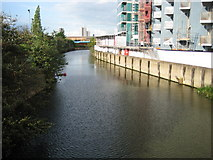 TQ3783 : Bow Back River in Stratford by Nigel Cox