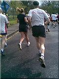 NT2572 : Runners view in the  Edinburgh 10k race by Lisa Jarvis