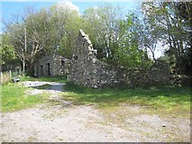 G9918 : Ruined farm buildings near the Stony River by Oliver Dixon
