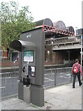 SU6400 : Not very quiet (or private) telephone box outside Portsmouth and Southsea Station by Basher Eyre