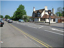 TQ0485 : New Denham: Tiger Cubs Indian brasserie and the A4020 road by Nigel Cox