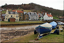 NZ8612 : Boats by the Beck, Sandsend by Christine Church