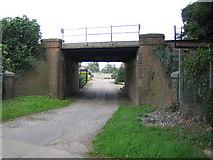 TQ1556 : Fetcham: Cannon Way railway bridge by Nigel Cox
