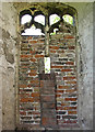 TG5012 : Caister Castle - bricked-up window in west wall by Evelyn Simak