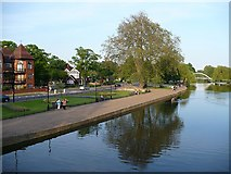 TL0549 : The Embankment and the River Great Ouse by Robin Drayton
