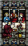 TR0245 : St Mary's Church, Kennington, Kent - Detail from east window by John Salmon