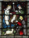 TR0245 : St Mary's Church, Kennington, Kent - Stained Glass by John Salmon