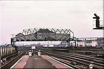 TQ2775 : Clapham Junction signalbox 1979 by Peter Whatley