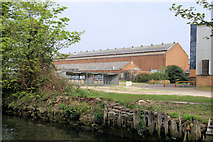 TG2407 : Industrial buildings north of the Wensum by Pierre Terre