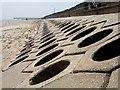 TF5763 : Sea Defences, Skegness by Dave Hitchborne