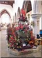 TG0838 : St Andrew's Church, Holt, Norfolk - Font by John Salmon