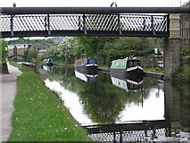 SE1537 : Shipley - View east under Gallows Bridge by Dave Bevis