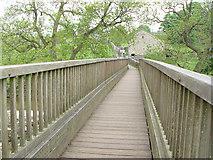 SE0063 : Tin Bridge, Linton Falls by Peter Church
