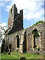 TG4108 : The church of St Peter & St Paul - the ruined tower by Evelyn Simak