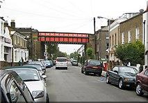 TQ2475 : Putney: Disraeli Road railway bridge by Nigel Cox