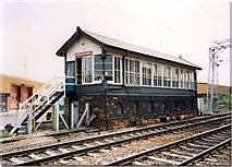 SJ7788 : Altrincham North signalbox by Peter Whatley