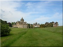 SE7170 : South face of Castle Howard from the temple path by DS Pugh