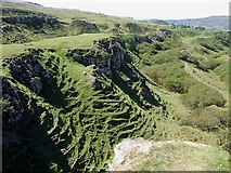 NG4162 : Terraces, Fairy Glen by Rob Farrow
