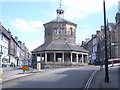 NZ0516 : Barnard Castle market place, The Bank by Nicholas Mutton