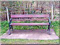 SO8660 : Seat by Droitwich Barge Canal Lock 7 by P L Chadwick
