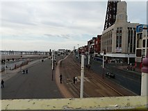 SD3035 : Blackpool Promenade looking North by Gerald England