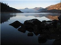 SH7157 : Llynnau Mymbyr and the Snowdon Group by Gerald Davison