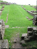 NY6366 : The northern gateway of Milecastle 48 (Poltross Burn) by Mike Quinn