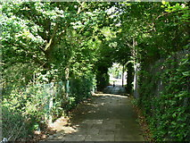 SU6553 : Cycleway approaching Wade Road by Sandy B