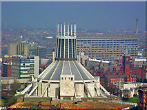 SJ3590 : The Catholic Cathedral, Liverpool by Peter Church