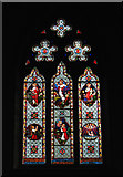 TM0099 : St Peter's church - east window by Evelyn Simak