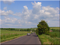 SU1062 : Road above Alton Barnes by Andrew Smith