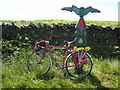 NY7866 : National Cycle Network milepost on the Stanegate by Oliver Dixon