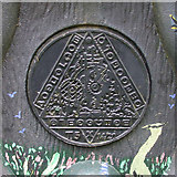 TL4097 : Time plaque on Millennium milepost 2 by Keith Edkins
