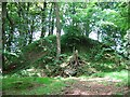 NY9075 : Motte behind The Nursery, Gunnerton by Roger Smith