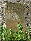 TF9434 : St Mary's church - C18 ledger slab by Evelyn Simak