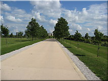 SK1814 : Avenue approach to the Armed Forces Memorial by Alan Heardman