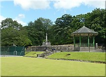SE0511 : Park, bandstand and memorial, Marsden, Frith #142003 by Humphrey Bolton