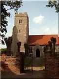 TQ9293 : St. Peter; the parish church of Paglesham by Robert Edwards