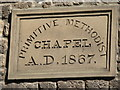 NY9864 : Plaque on Market Place Chapel by Mike Quinn