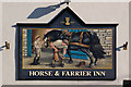 NY3225 : Horse and Farrier Inn sign by Ian Capper