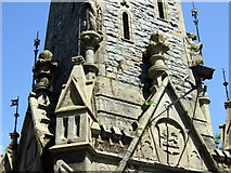 SH7400 : Stone carvings on the clock tower by ceridwen