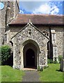 TM1698 : All Saints, Wreningham, Norfolk Porch by John Salmon